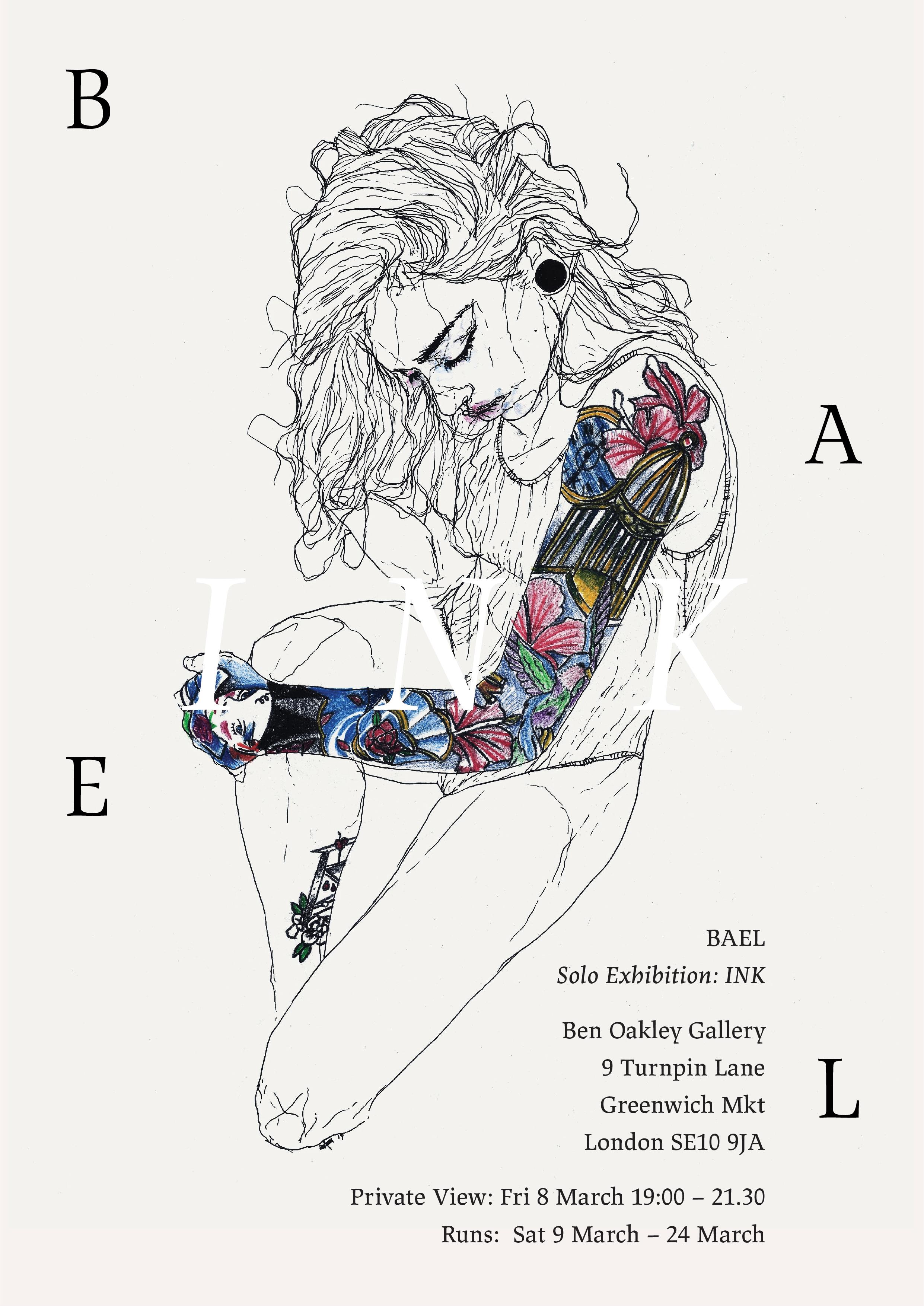 Ben Oakley Gallery Bael Ink Exhibition